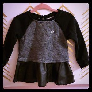 Calvin Klein baby sweatshirt and leggings set